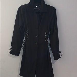 Pamela McCoy short lace-up jacket coat